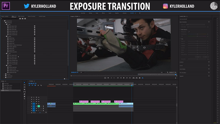 Premiere Pro CC Exposure Transitions Pack + Free Download | 4K Shooters
