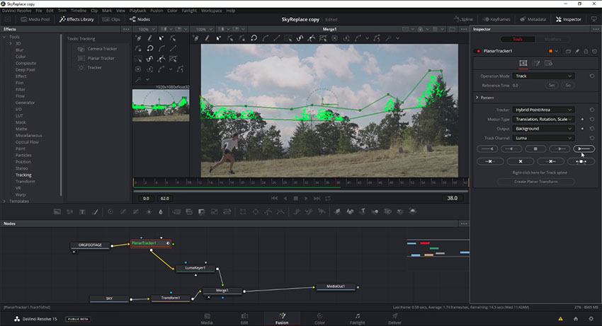 Simple Sky Replacement in DaVinci Resolve 15 Using Fusion
