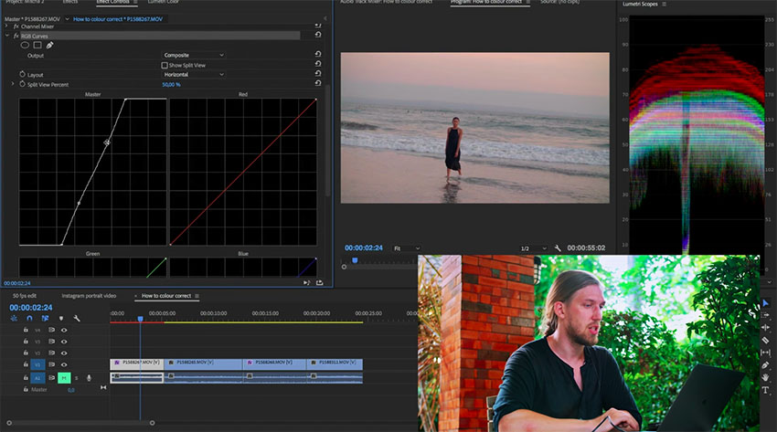 Advanced V-Log Color Grading Workflow in Premiere Pro CC | 4K Shooters