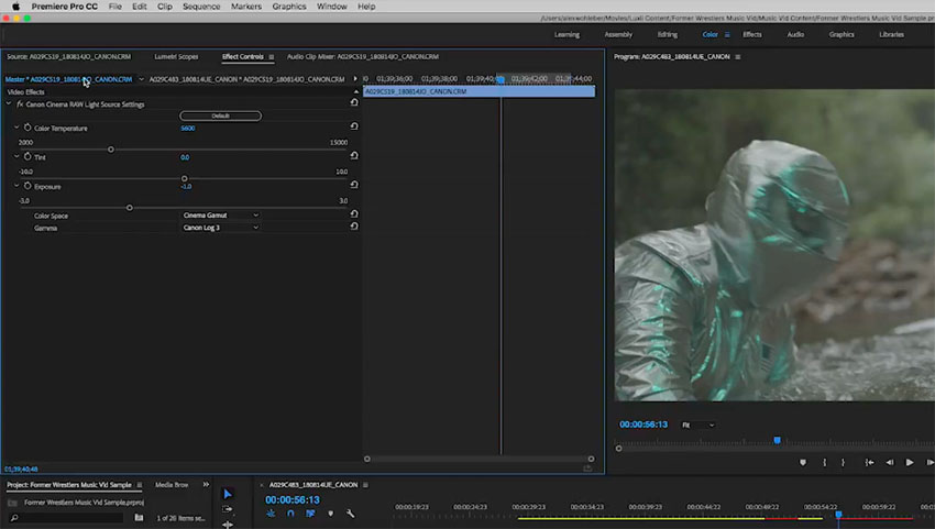 The Hidden Settings for Canon C200 Raw Light in Premiere Pro CC | 4K