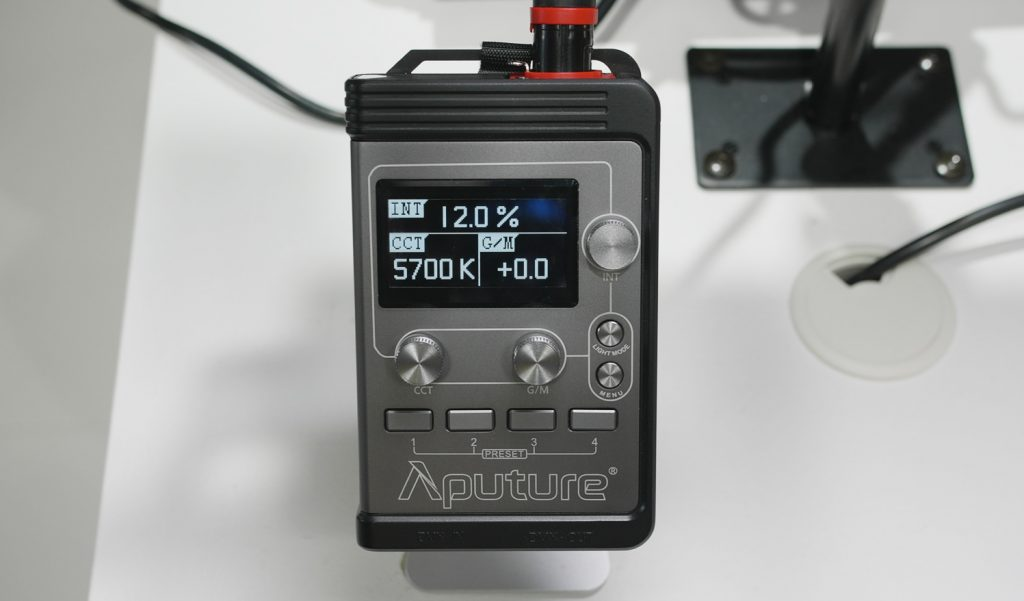 Aputure RGB Light remote ibc 2018