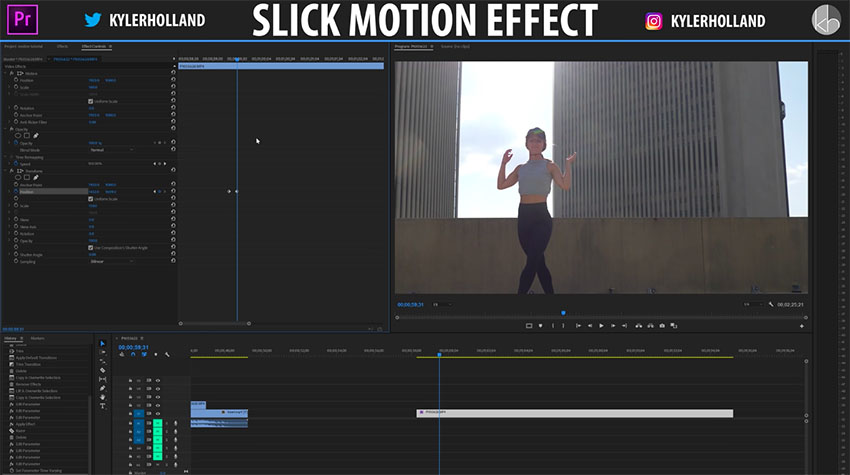 Slick Motion Effect in Premiere Pro CC 02