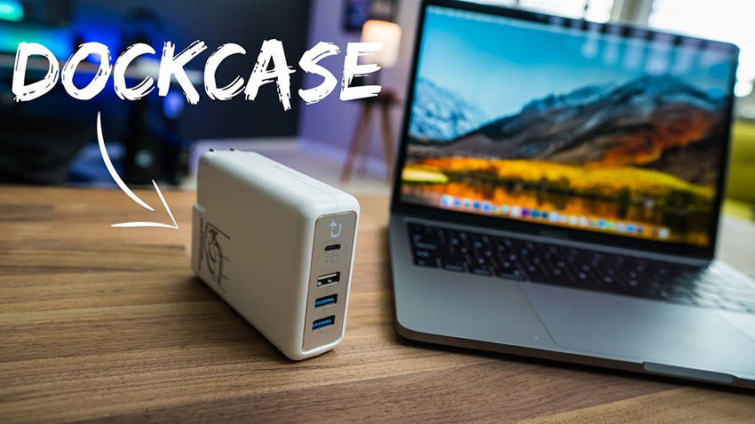 DockCase Adapter Turns Your MacBook Pro Charger into a Full-Fledged Dock