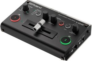 """Operate 2 Cameras with the """"One Man Band"""" Roland V-02HD Compact Video Mixer"""
