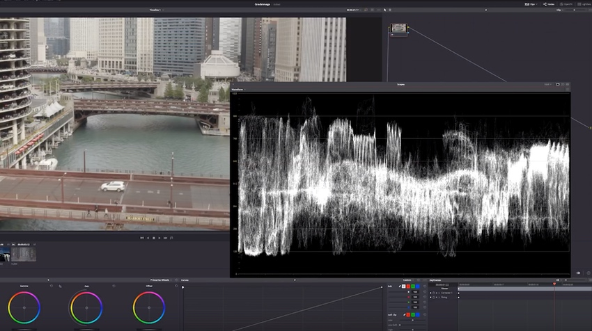 DaVinci Resolve Waveform Monitor