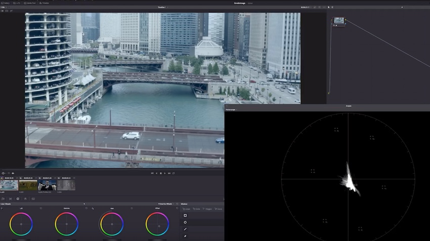 DaVinci Resolve Vector Scope