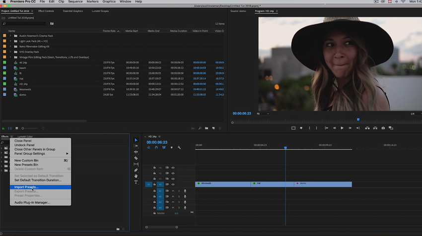 Get This Free Cinematic Preset Pack for Premiere Pro CC 2018
