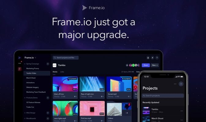 Frame.io March 2019 Update 10 Features