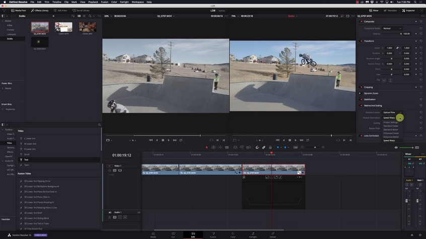 Get Perfectly Smooth Slow Motion Using SpeedWarp in Resolve 16