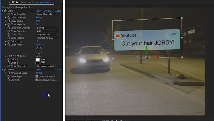 How to Create Floating Messages in After Effects CC | 4K