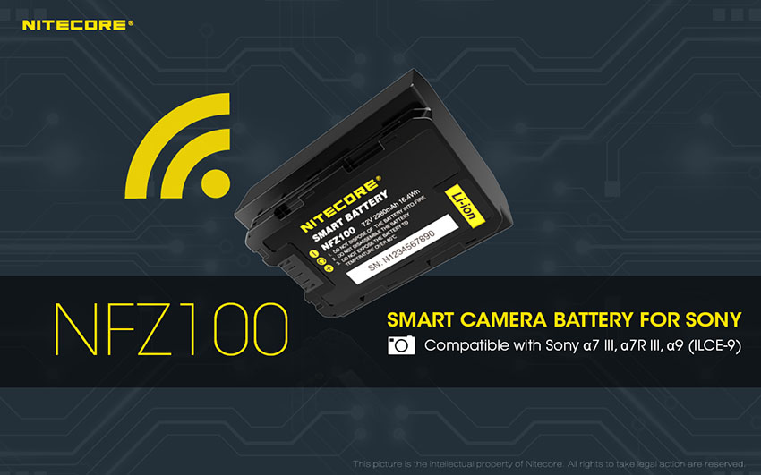 NITECORE NFZ100 Smart Batteries for Your Sony A7R III, A7III