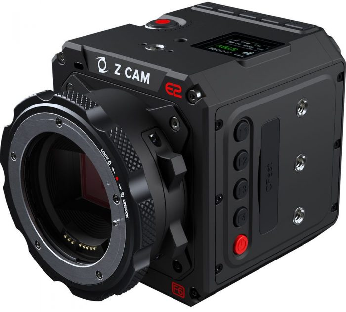 Z CAM E2 F6 full frame 6K EF side