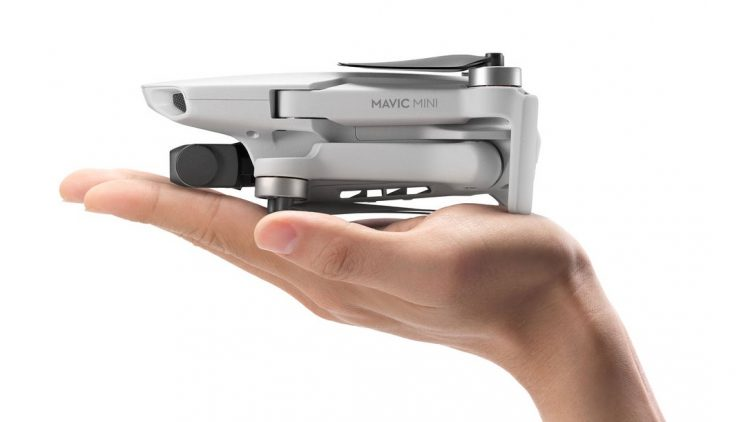 DJI Mavic Mini drone foldable pocket iphone sized