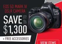 Save Up to Whopping $1,300 on Canon 5D Mark IV and EOS R