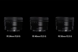 Sony Rolls Out Three Ultra Compact Full-Frame G Prime Lenses